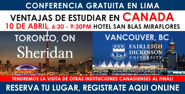 Conferencia en Lima de Sheridan College de Toronto y FDU de Vancouver